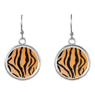 Faux Tiger Print Earrings
