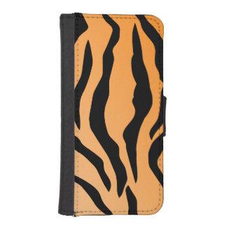 Faux Tiger Print iPhone SE/5/5s Wallet Case