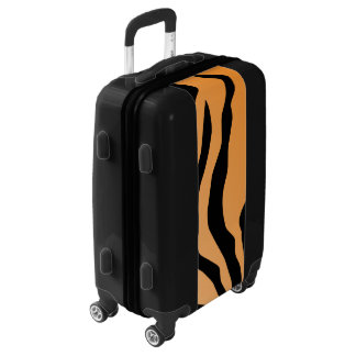 Faux Tiger Print Luggage