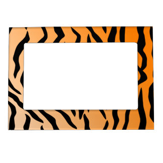 Faux Tiger Print Magnetic Photo Frame