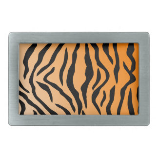 Faux Tiger Print Rectangular Belt Buckle