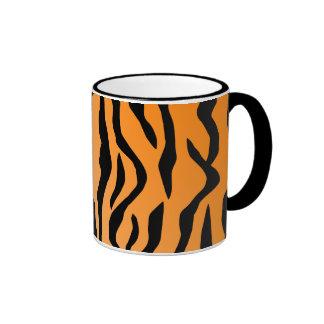 Faux Tiger Print Ringer Mug