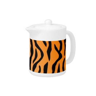 Faux Tiger Print Teapot