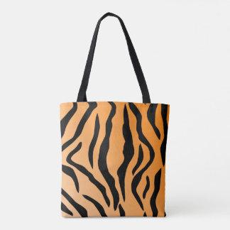 Faux Tiger Print Tote Bag