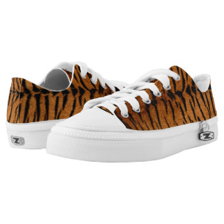 Faux Tiger Skin Low Top Sneakers Printed Shoes