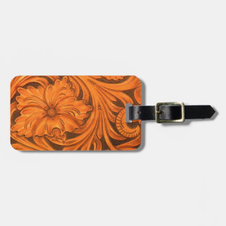 Faux Tooled Leather Horse Saddle Bag Tag
