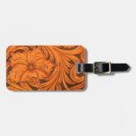 Faux Tooled Leather Horse Saddle Luggage Tag