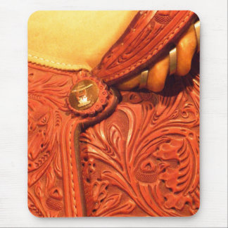 Faux Tooled Leather Saddle Mouse Pad