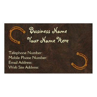 Faux Tooled Leather Western style 4 Business Cards