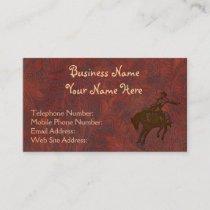 Faux Tooled Leather Western style 7 Business Cards