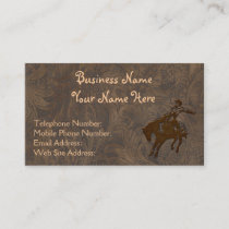 Faux Tooled Leather Western style Business Cards