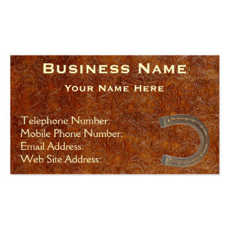 Faux Tooled Leather Western style IV Biz Cards Business Card