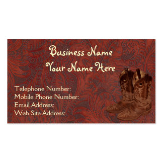 Faux Tooled Leather Wrangler style VII Double-Sided Standard Business Cards (Pack Of 100)