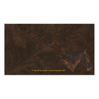 Faux Tooled Leather Wrangler style XII Double-Sided Standard Business Cards (Pack Of 100)
