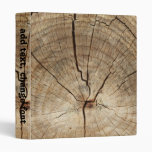 Faux Tree Rings Background Binder