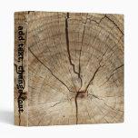 Faux Tree Rings Background Binder