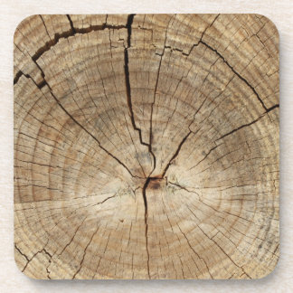 Faux Tree Rings Background Coaster
