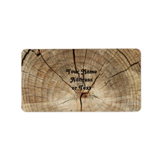 Faux Tree Rings Background Label