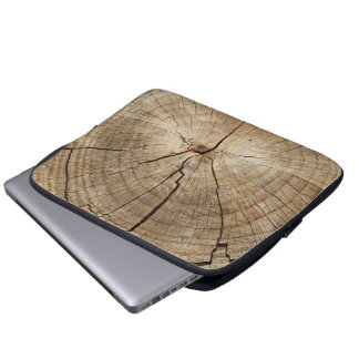 Faux Tree Rings Background Laptop Sleeves