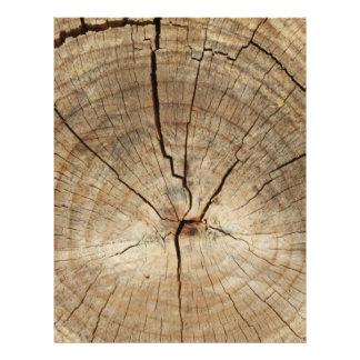 Faux Tree Rings Background Letterhead