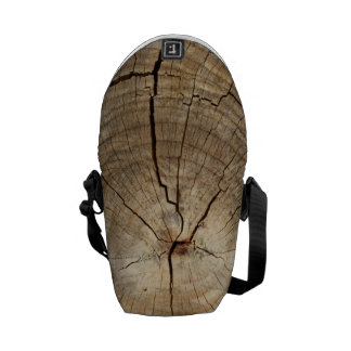 Faux Tree Rings Background Messenger Bag