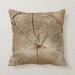 Faux Tree Rings Background Pillows