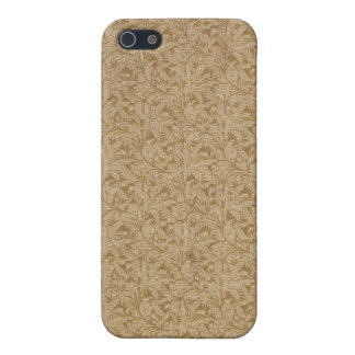 Faux vintage book cover, retro wallpaper pattern case for iPhone SE/5/5s