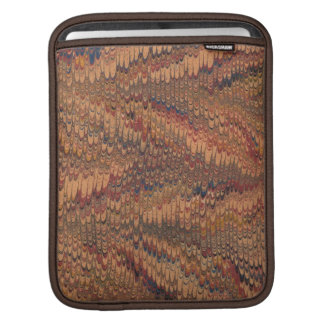 Faux vintage book cover, retro wallpaper pattern iPad sleeve