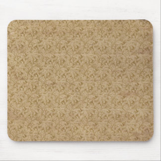 Faux vintage book cover, retro wallpaper pattern mouse pad
