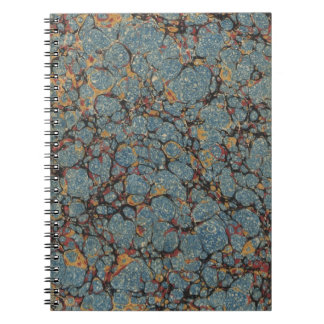 Faux vintage book cover, retro wallpaper pattern spiral notebook