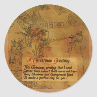 Faux Vintage Christmas Sticker