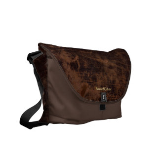 Faux Vintage Leather Custom Personalized Book / Courier Bags