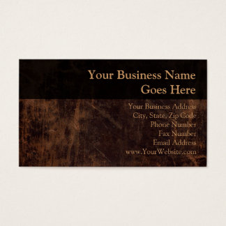 Faux Vintage Leather-Look Business Card