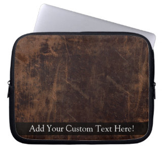 Faux Vintage Leather-Look Computer Sleeve