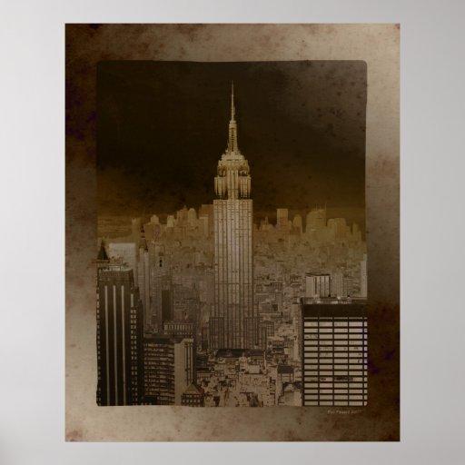 Faux Vintage Manhattan POSTER