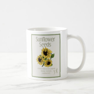 Faux Vintage  Sunflower Seed Pack Mug by mcful