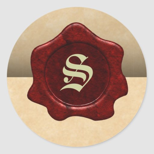 Faux Wax Seal and Parchment Vintage Goth Sticker