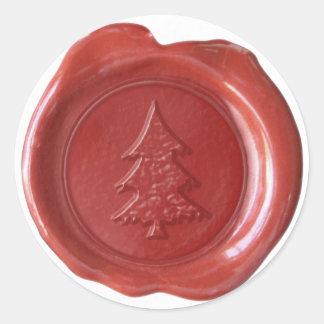 Faux Wax Seal - Red - CHRISTMAS TREE II