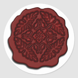 Faux Wax Seal, Red Classic Round Sticker