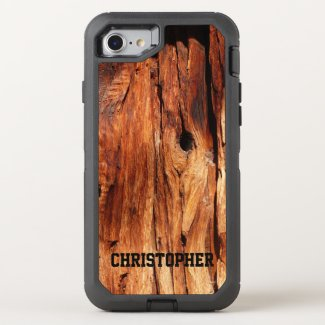 Faux Weathered Wood OtterBox Defender iPhone 7