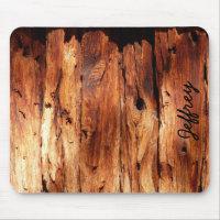 Faux Weathered Wood Siding Rustic Custom Mousepad