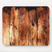 Faux Weathered Wood Siding Rustic Custom Mousepad