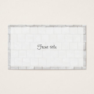 Faux White Decorative Marble Tile Background Business Card