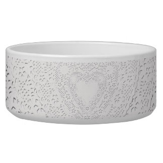Faux White Lace Fabric Background Bowl