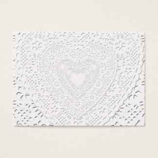 Faux White Lace Fabric Background Business Card