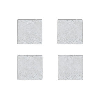 Faux White Lace Fabric Background Stone Magnet