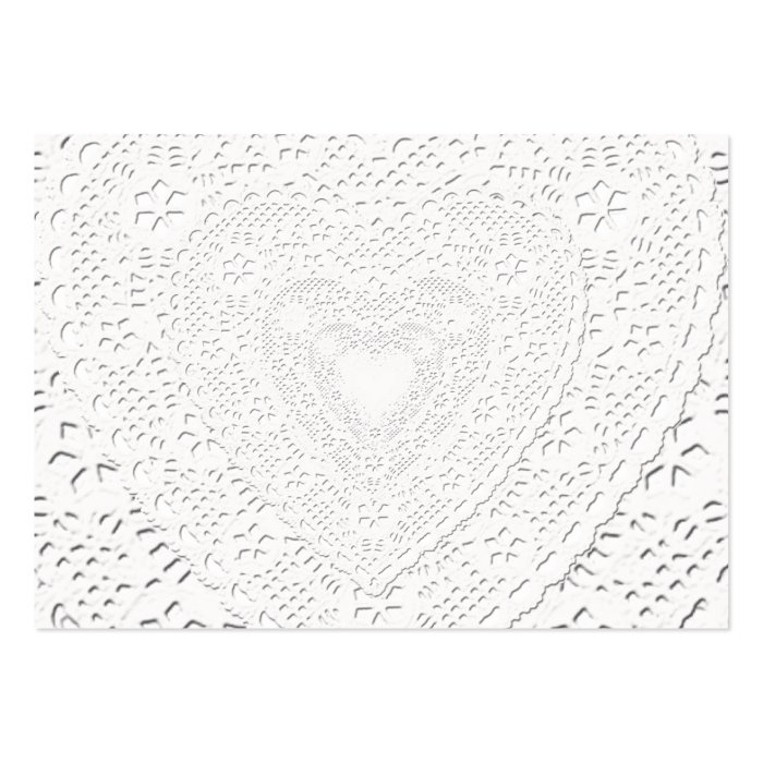 Faux White Lace Fabric Background Large Business Card