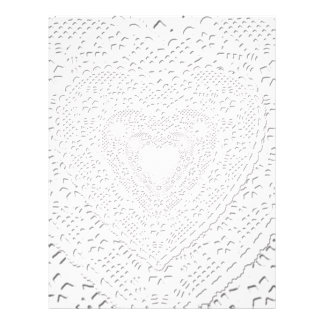 Faux White Lace Fabric Background Letterhead Template