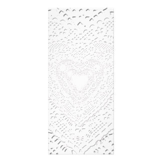 Faux White Lace Fabric Background Rack Card