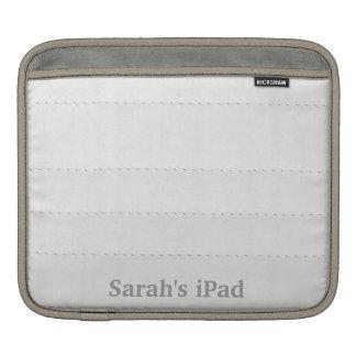 Faux White Leather iPad Sleeve